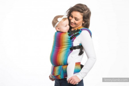 Poze LENNYUP CARRIER, FULL WRAP CONVERSION - LITTLE HERRINGBONE RAINBOW NAVY BLUE