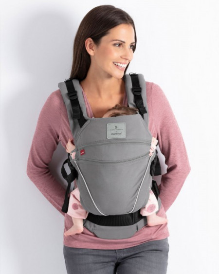 Marsupiu Ergonomic, Manduca XT, BellyButton SoftCheck Grey