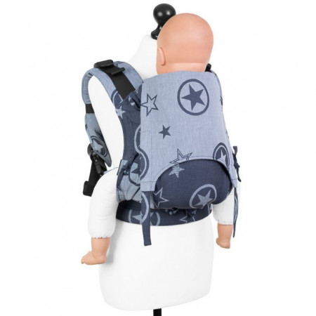 Poze Toddler Size: Fidella Fusion 2.0 Full Wrap Conversion; OUTER SPACE - BLUE