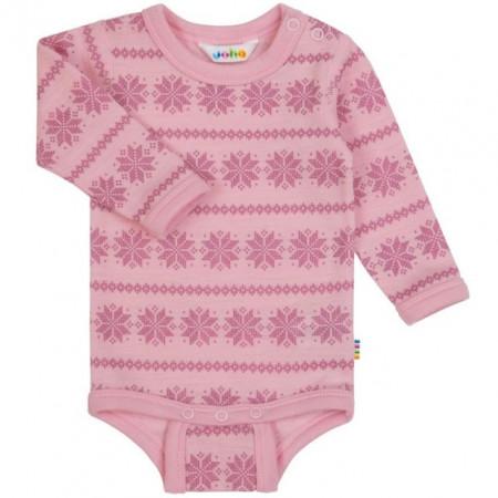 Body Joha din lână merinos -Snowflake Pink