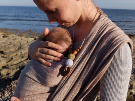 Poze Colier baywearing si alaptare - Gold&Silver , Stejar - Kangaroo Care