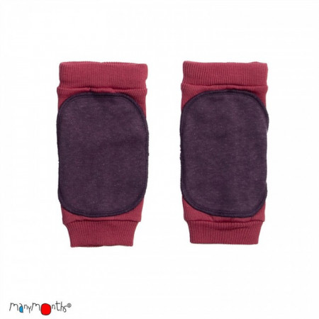 Protectii genunchi ManyMonths Knee Tubes lână merinos - Frosted Berry