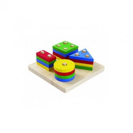 Set de sortare cu forme geometrice, Plan Toys