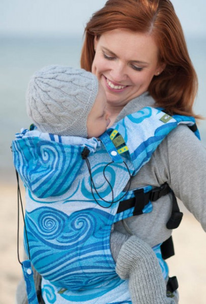 Poze Lenny Lamb SSC Toddler, Full Wrap Conversion -  BLUE WAVES (Second Generation)
