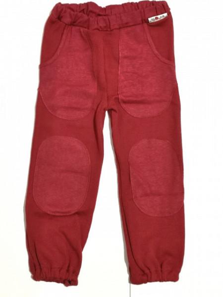 Pantaloni ManyMonths Hazel cu buzunare lână merinos - Cranberry Nectar