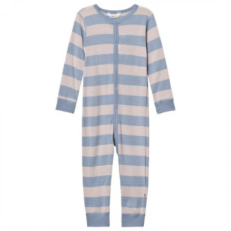 Poze Jumpsuit Joha din lână merinos - Wide Stripe Blue/Grey
