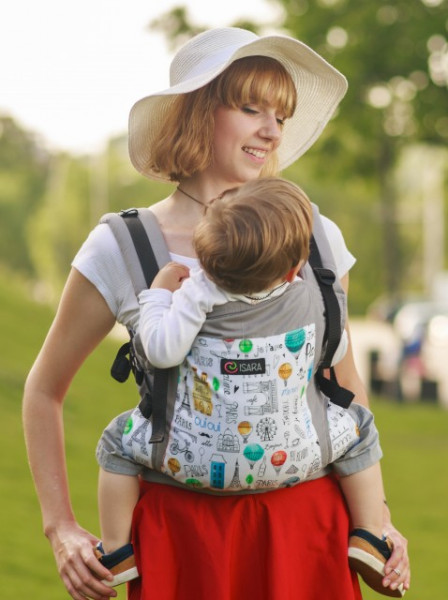 Marsupiu Ergonomic,Isara V3 Toddler, CHIC IN PARIS