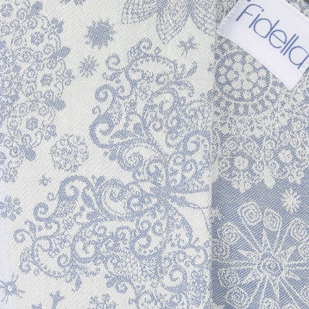 Poze Toddler Size: Fidella Fusion 2.0 Full Wrap Conversion; ICED BUTTERFLY - LIGHT BLUE
