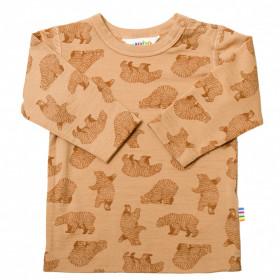 Bluză din lână merinos Joha - Bear Rusty