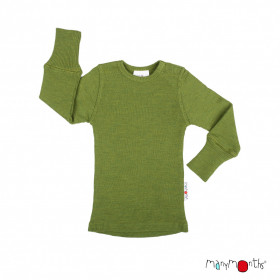 Bluză ManyMonths lână merinos - Garden Modd Green