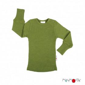 Bluză ManyMonths lână merinos - Garden Moss Green