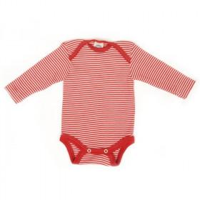 Body Cosilana din lână merinos și mătase - Dungi rosii