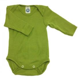 Body Cosilana din lână merinos și mătase - Verde