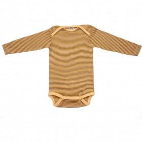 Body Cosilana din lână merinos și mătase - Yellow Plum