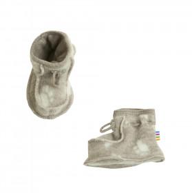Botosei dublati din lână merinos fleece Joha - Footprint Sesame Melange