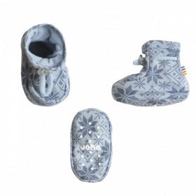 Botosei Joha din lână merinos - Snow Crystal Soft Blue