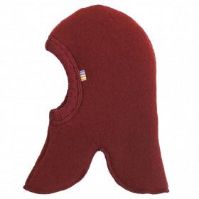 Cagulă dublată Joha lână merinos fleece - Crimson Red