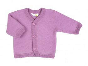 Cardigan din lână merinos fleece, Joha - Basic Pink