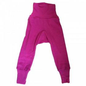 Cei mai comozi pantaloni Cosilana din lână merinos si mătase - Roz