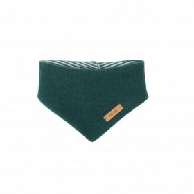 Fular triunghi Pure Pure din lână organică fleece - Smoke Green