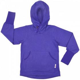 Hoodie ManyMonths Kangaroo cânepă si bumbac organic - Blue Purple