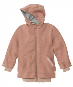 Jacheta Disana copii lână organica boiled wool (lana fiarta) - Rose