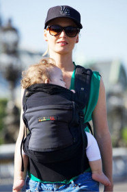 Lichidare de stoc: Marsupiu SSC Physio Carrier -Black Pocket Charcoal Grey