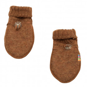 Manusi din lana merinos fleece Joha - Basic Caramel Melange