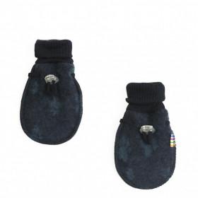 Manusi din lana merinos tip fleece, Joha - Footprint Navy