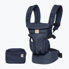 Marsupiu ergonomic, portbebe ,Ergobaby OMNI 360 COOL AIR MESH, MIDNIGHT BLUE