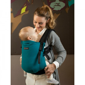 Marsupiu Ergonomic, Isara V3 Toddler, Half Wrap Conversion PEACOQUETTE