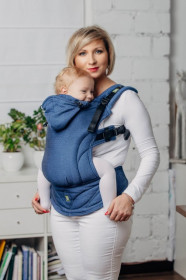 Marsupiu Ergonomic,Lenny Lamb Baby Size, Basic Line COBALT Full Wrap Conversion