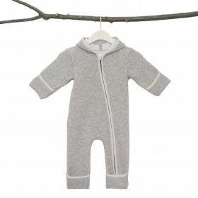 Overall din lână fiartă cu mănuși și botoșei, Stapf - Grey/Natur