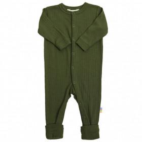 Overall/Pijama Joha lână merinos cu/fara sosete - Basic Bottle Green