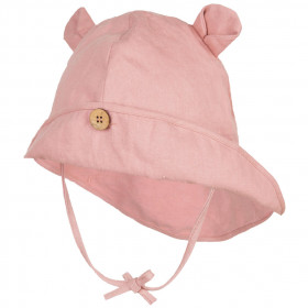 Pălărie ajustabilă ManyMonths Teddy Bear cânepă și bumbac - Mauve Glow