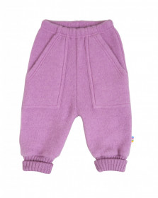 Pantaloni lână merinos fleece Joha - Basic Pink