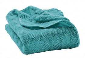 Patura bebelusi din lână merinos tricotata Disana - Lagoon