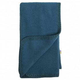 Patura Joha din lână merinos fleece- Petrol Blue