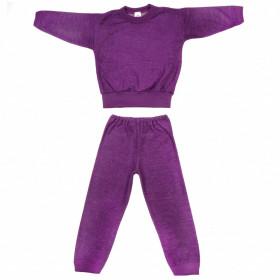 Pijama/Homewear Cosilana lână merinos terry - Plum