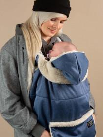 Protectie de iarna Isara + Gluga - Deep Blue Melange