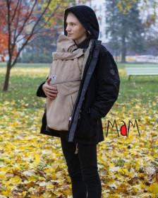 Protectie iarna marsupiu MaM Deluxe SoftShell FLeX- Sandcastle + Cagula ajustabila