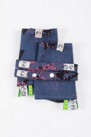Protectii bretele Lenny lamb, WAWA - Blue-grey & Pink