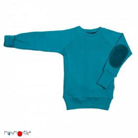 Pulover ManyMonths lână merinos - Royal Turquoise