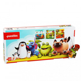 Puzzle 3 in 1 48 piese, Animalutele Preferate, Cubika
