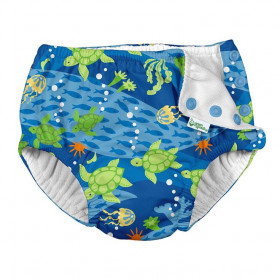 Slip de inot refolosibil Iplay UPF 50+ - Royal Blue Turtle Journey