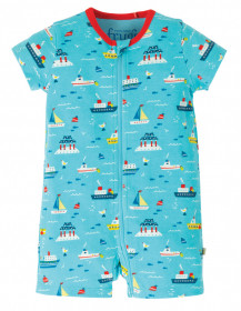 Summersuit din bumbac organic - Sail The Seas, Frugi