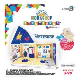 The Workshop, set cu autocolante, Magna-Tiles Structures