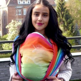 Wrap tesut Didymos - Rainbow Unicorn, marimea 5 (4,2m)