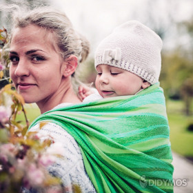 Wrap tesut Didymos Waves Lime, size 7 (5,2 m)