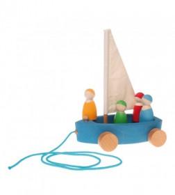 Barcuta cu 4 marinari- Grimm's Spiel und Holz Design